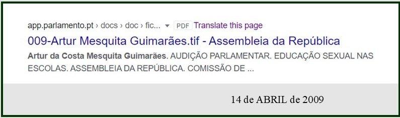 Artur da Costa Mesquita Guimarães. AUDIÇÃO PARLAMENTAR