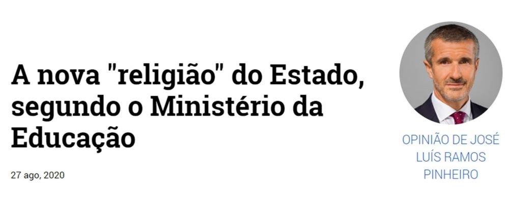 """A nova """"religião"""" do Estado, segundo o Ministério da Educação"""